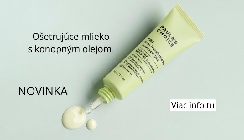 Ošetrujúce mlieko s konopným olejom