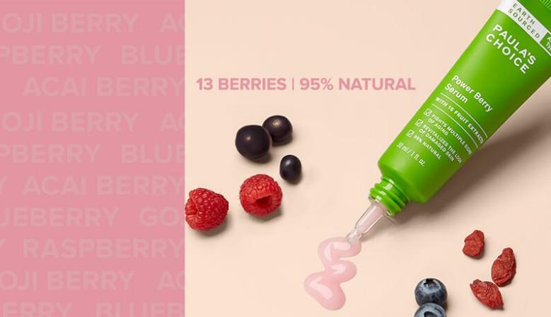 Prírodné antioxidačné sérum s výťažkom z bobúľ ovocných plodov